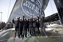 Spindrift racing winner of the Tour de Belle Ile 2013